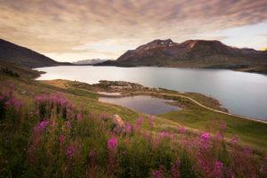 Levé de soleil sur le Lac du Mont-Cenis