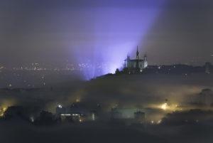 Mer de nuages et Fete des Lumieres - Lyon