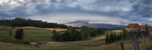 Panoramique arcus en Isère 28 juin 2017