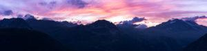 Couché de soleil sur les crêtes de la Sana - Vanoise